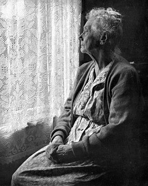 old alone woman